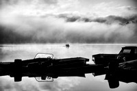 Boater in Fog